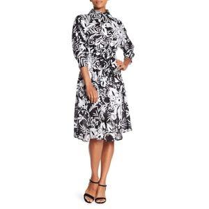 Eva Franco - Matilda Black/White Floral Dress